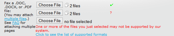 muliple files selected
